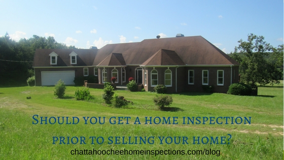 Home inspection prior to selling