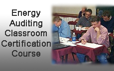 Energy Auditing Classroom Certification